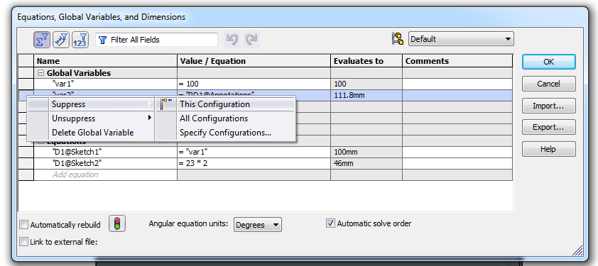Equations galore - Peter CAD